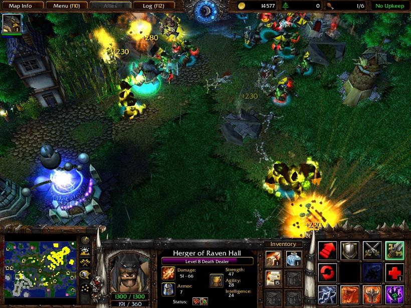 Warcraft 3 tft  dota allstars v649b ai (с ботами ), warcraft 3: the frozen throne 121a russian, 104